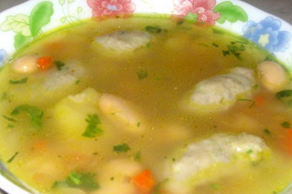 Грибной суп из свежих белых