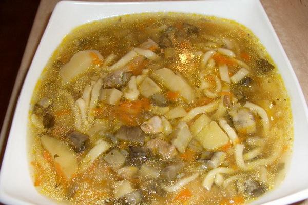 Суп-лапша грибной рецепт с пошагово