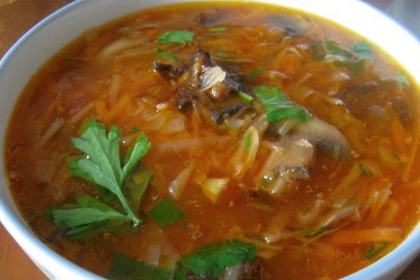 Рецепты грибных щей и борщей