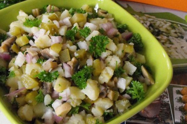 Простые и вкусные салаты из грибов: рецепты с фото