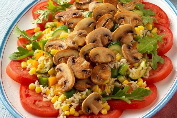 рецепты вкусных салатов с жареными грибами