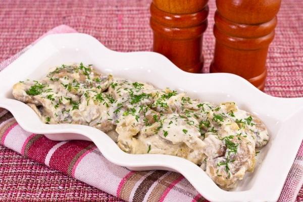Рецепты блюд из грибов в сметане