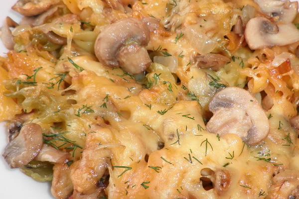 Макаронные изделия с грибами: рецепты приготовления