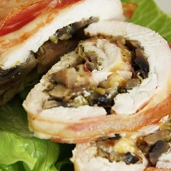 Рецепты свиных, куриных и томатных рулетиков с грибами